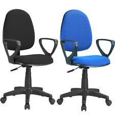 Silla de oficina giratoria , sillon escritorio negro o azul | HAB ...