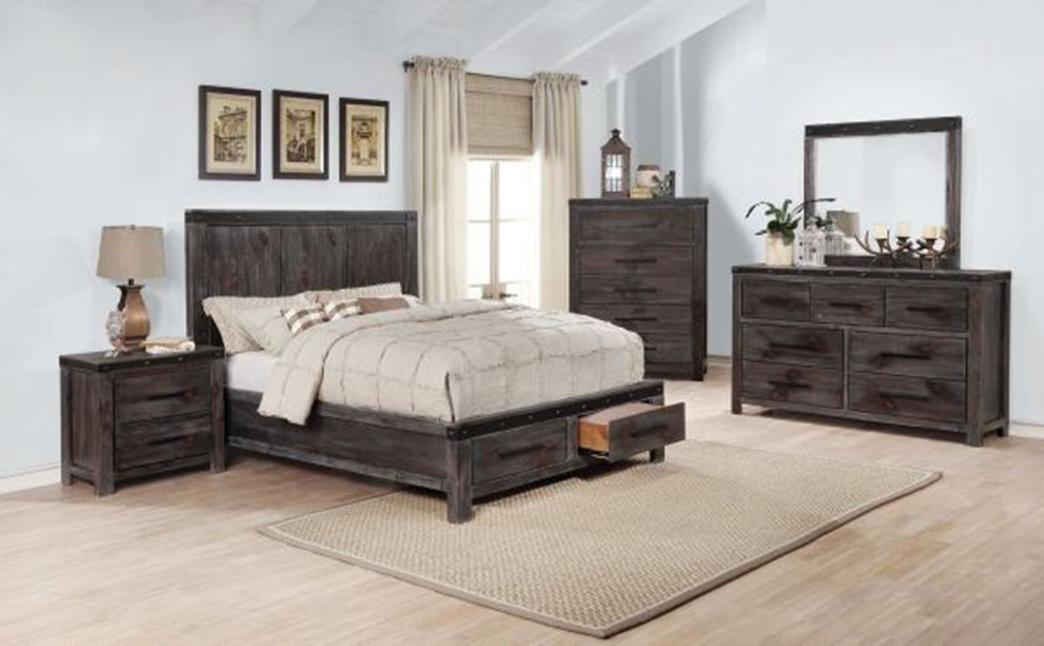 Picture Of Brent Queen Bedroom Set Transitional Decor Farmhouse