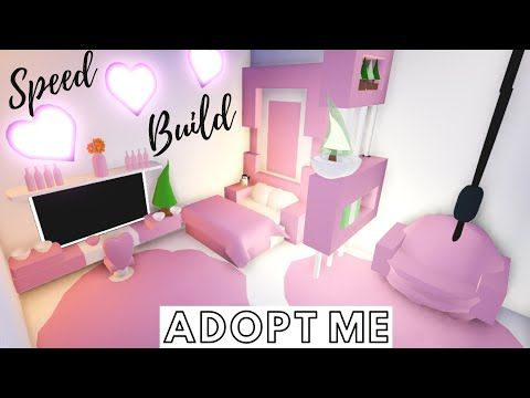Adopt Me Speed Build Adopt Me Pink Bedroom Adopt Me Building Hacks Youtube Pink Bedroom Cute Room Ideas Adoption