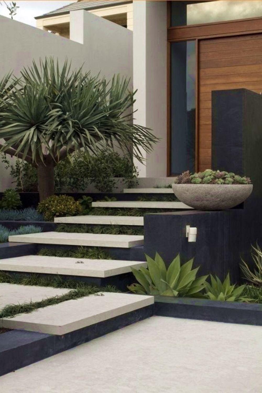 40 Minimalist Garden Design And Landscape Ideas That Inspired Front Garden Design Front Yard Design Minimalist Garden Front yard modern design ideas