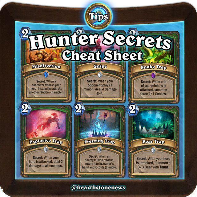 hearthstone Tips: Hunter Secrets Cheatsheet   Hearthstone News ...