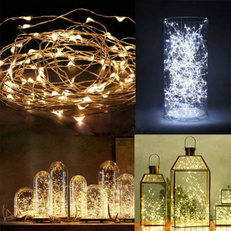 Micro Led String Lights Gorgeous 606060 Micro LED Battery Operated String Lights Silver Copper Wire