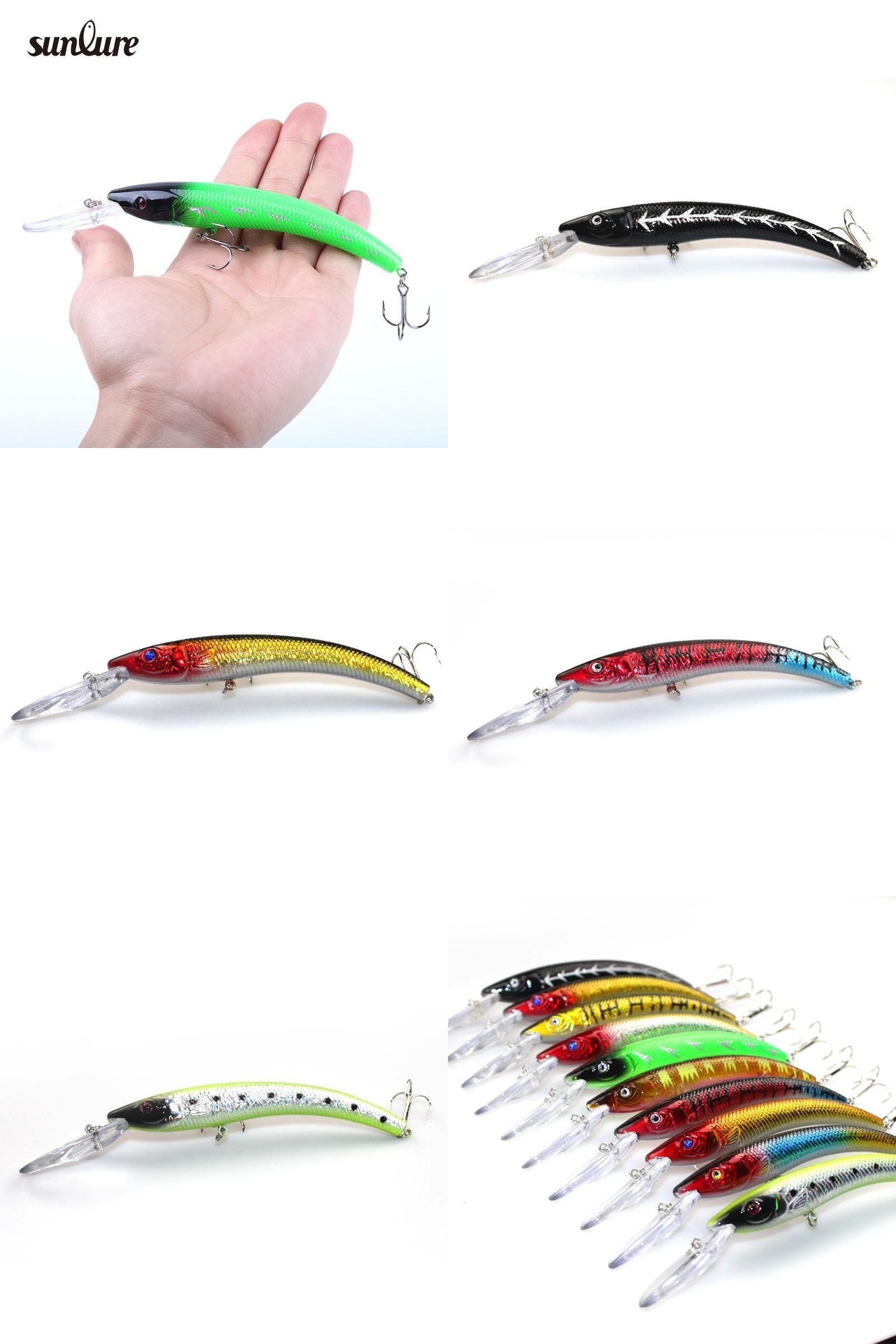 "1pcs Wobbler Fishing Lure Crankbait Minnow Trolling Bass Pike Many Fish 5/""//15.3g"