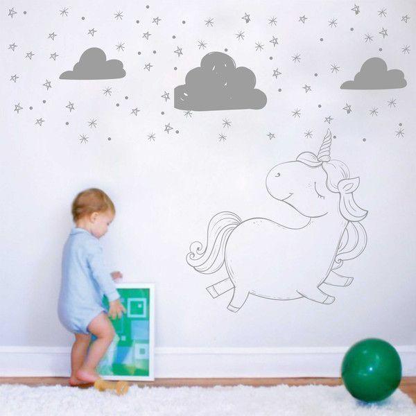 Kinderzimmerdekoration - Exklusive Wandtattoo Kinderzimmer | Einhorn ...