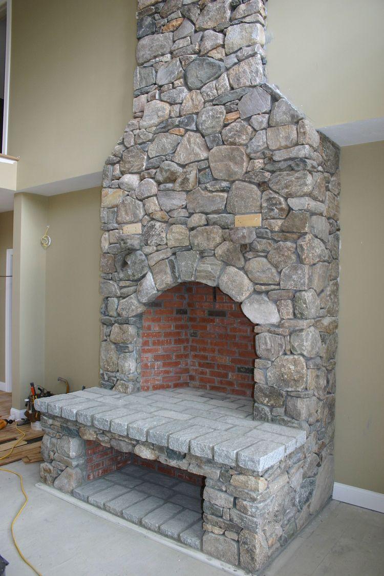 Stone Fireplace Ulinski Masonry Stone Fireplace Fireplace