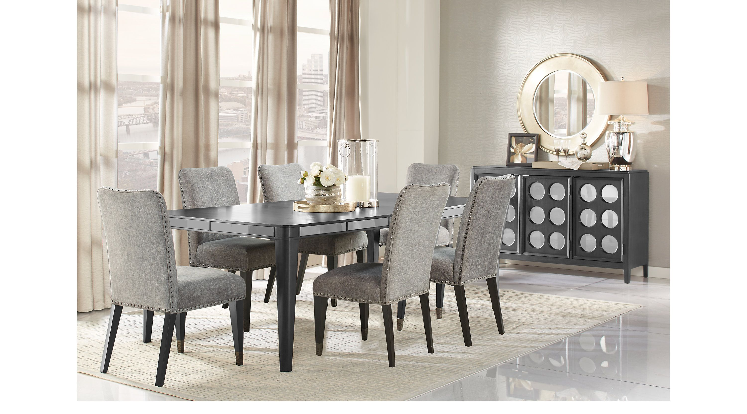Hill Creek Black 5 Pc Rectangle Dining Room $777 00 Find