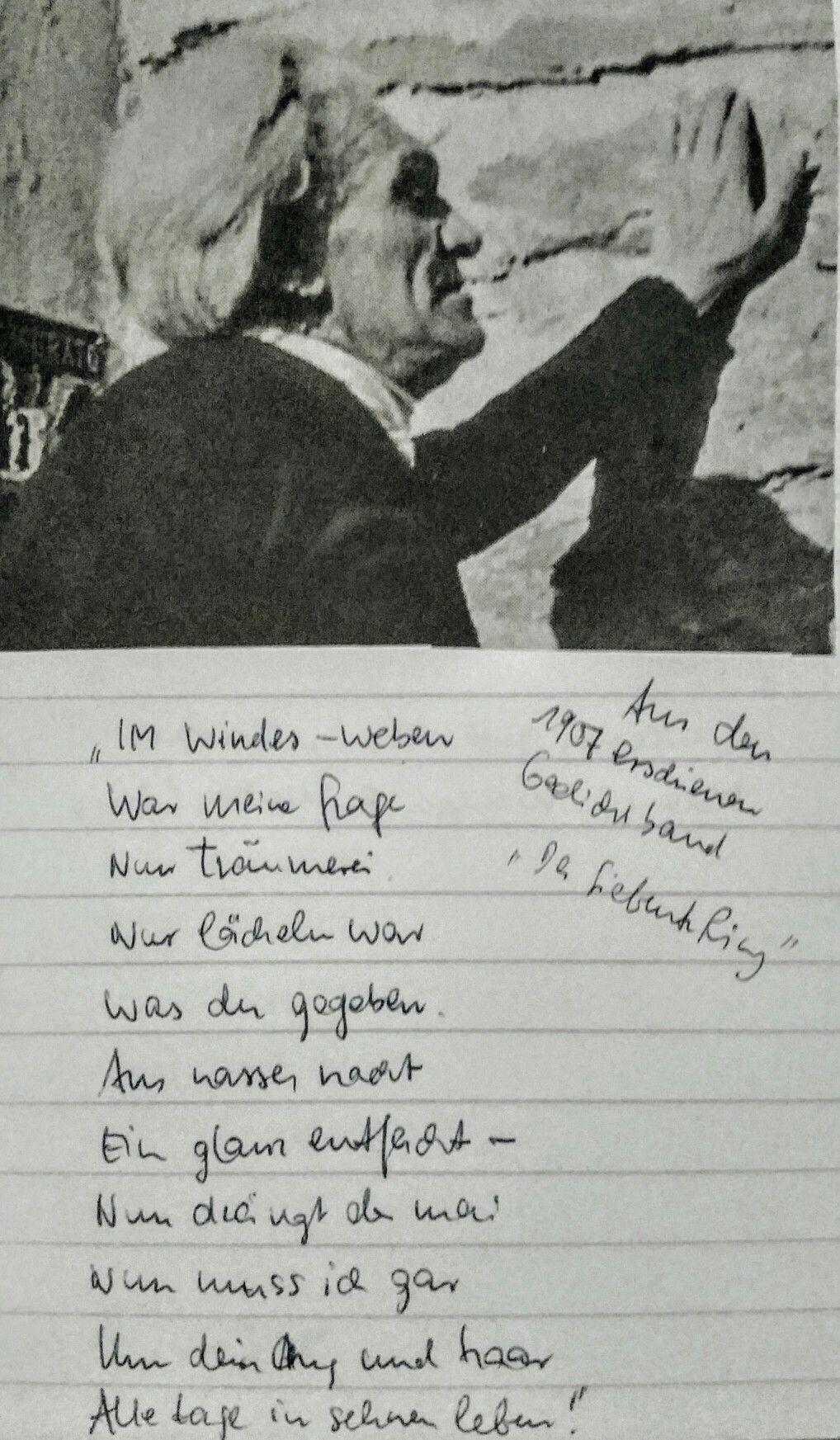 Stefan George Im Windes Weben Gedichte Und Weben