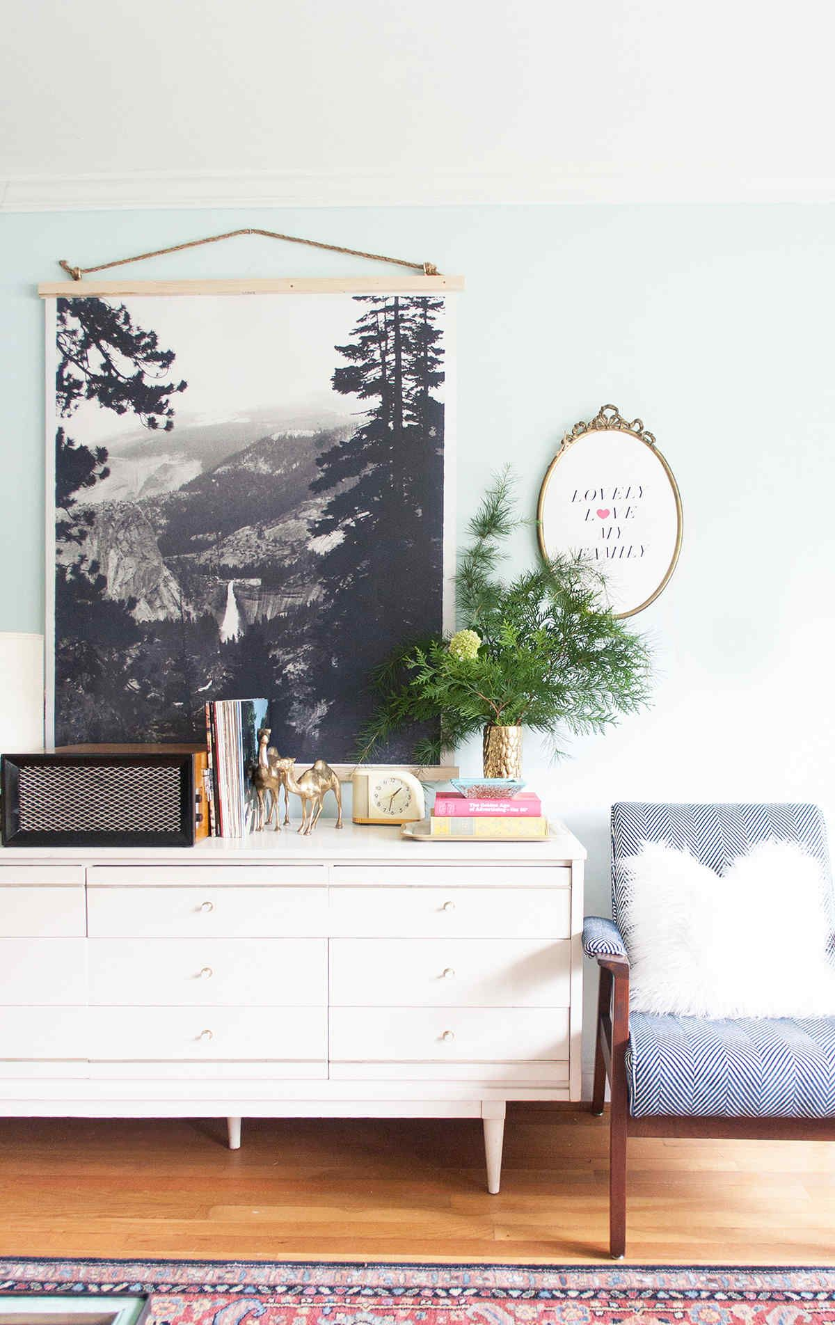 Hang A Large Photo Like A Tapestry Framed Artwall Artdiy