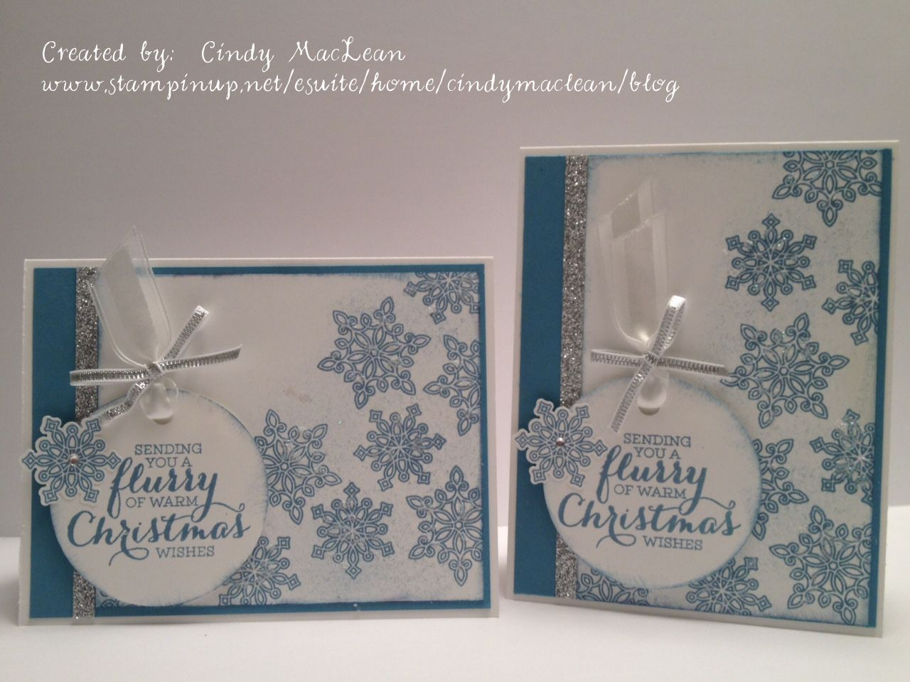 Flurry of Wishes stamp set and Snow Flurry Punch from Stampin' Up!
