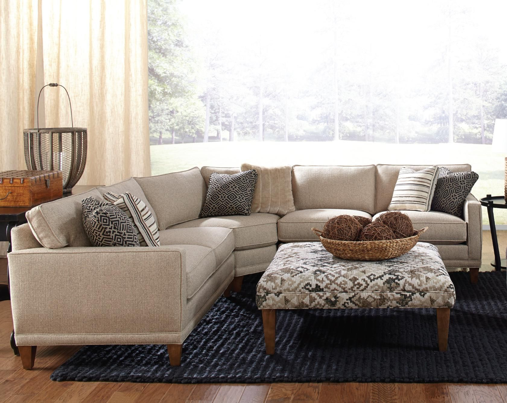 Rowe Townsend Contemporary 3 Piece Sectional Sofa   Sprintz Furniture    Sofa Sectional Nashville, Franklin