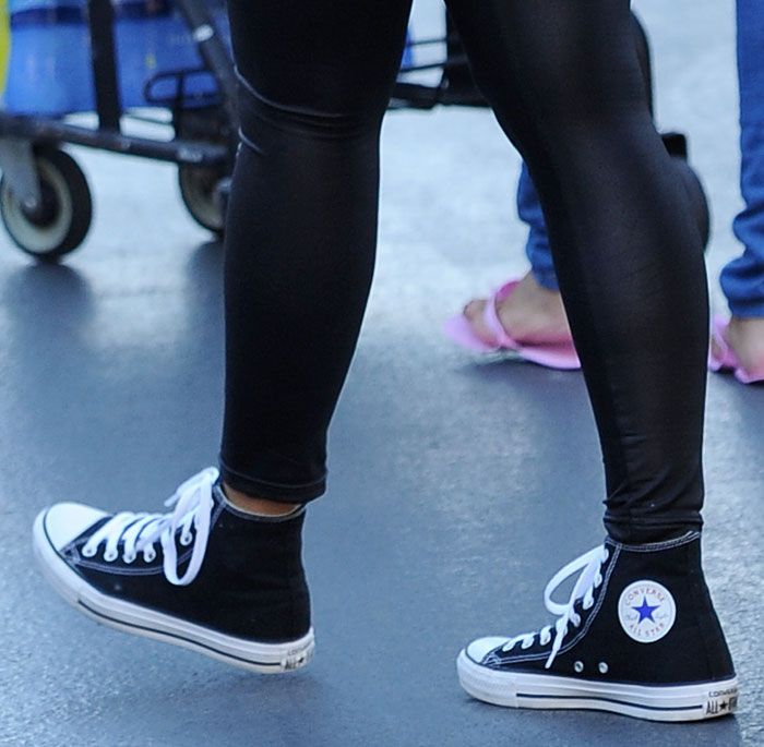 f05306f0f51c Amber Rose Out in Converse Chuck Taylor All Star Shoes