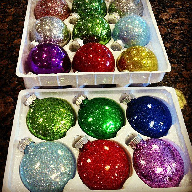Super Easy Glitter Ornaments (without The Mess!)