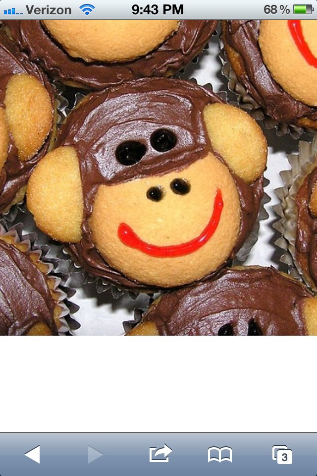 3 Easy Diy Storage Ideas For Small Kitchen: Monkey Cupcakes Looks Easy....and Wnna Make For My Lil