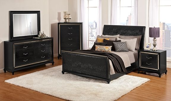 American Signature Furniture   Paradiso Bedroom Collection Queen Bed $699.99