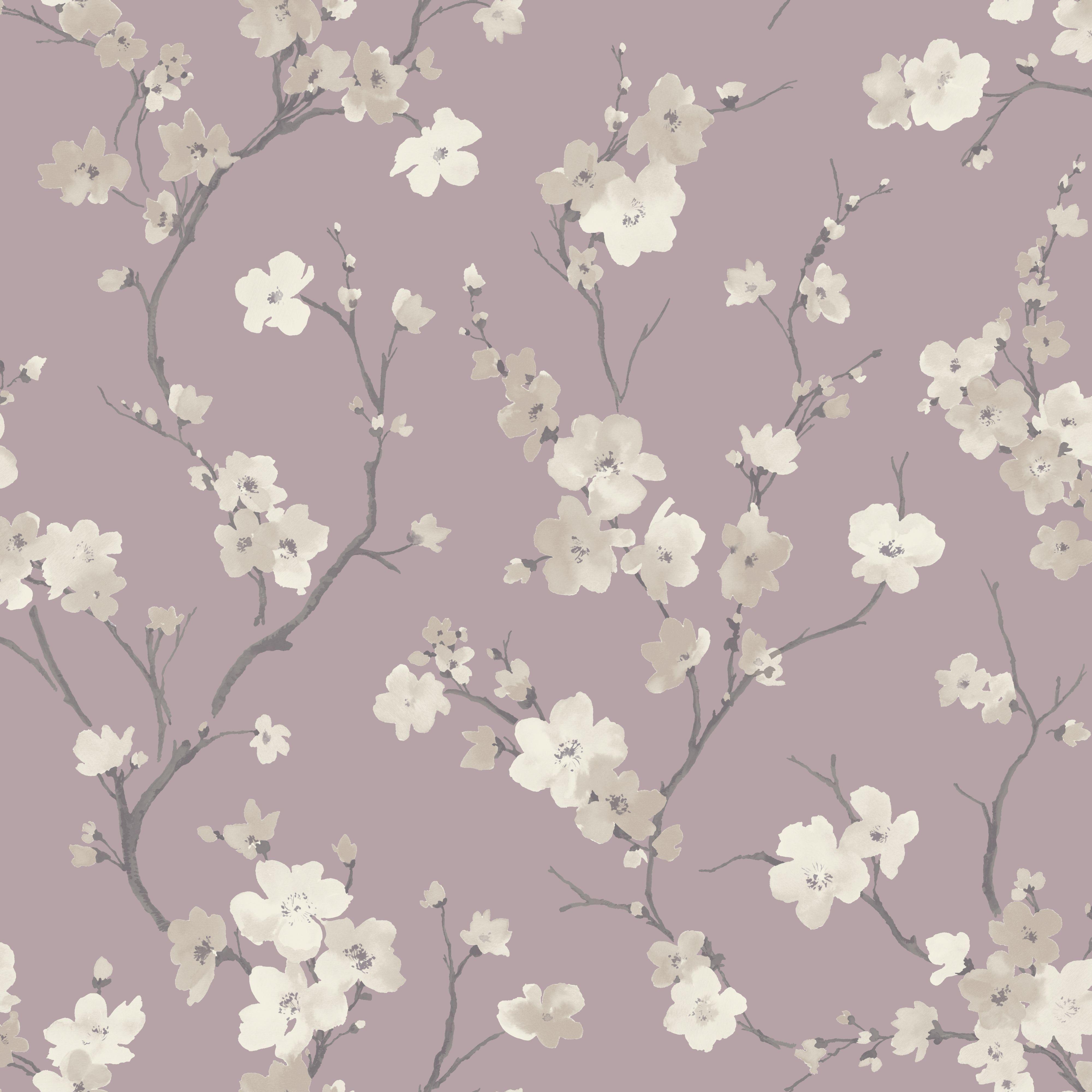 blossom wisteria floral glitter wallpaper departments