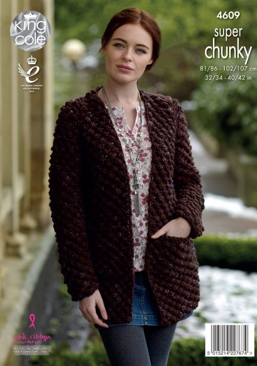 b3ba04843 Womens Knitting Pattern Ladies Long by. Sweater   Cardigan Knitted in Big  Value Super Chunky Twist - King Cole
