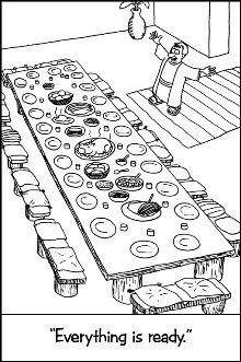 The Great Banquet Sunday School Coloring Pages