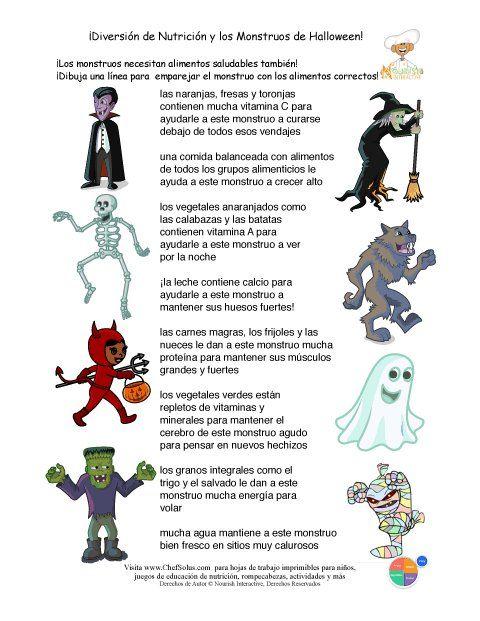 Lectura comprensiva , alimentación y halloween | Halloween ...