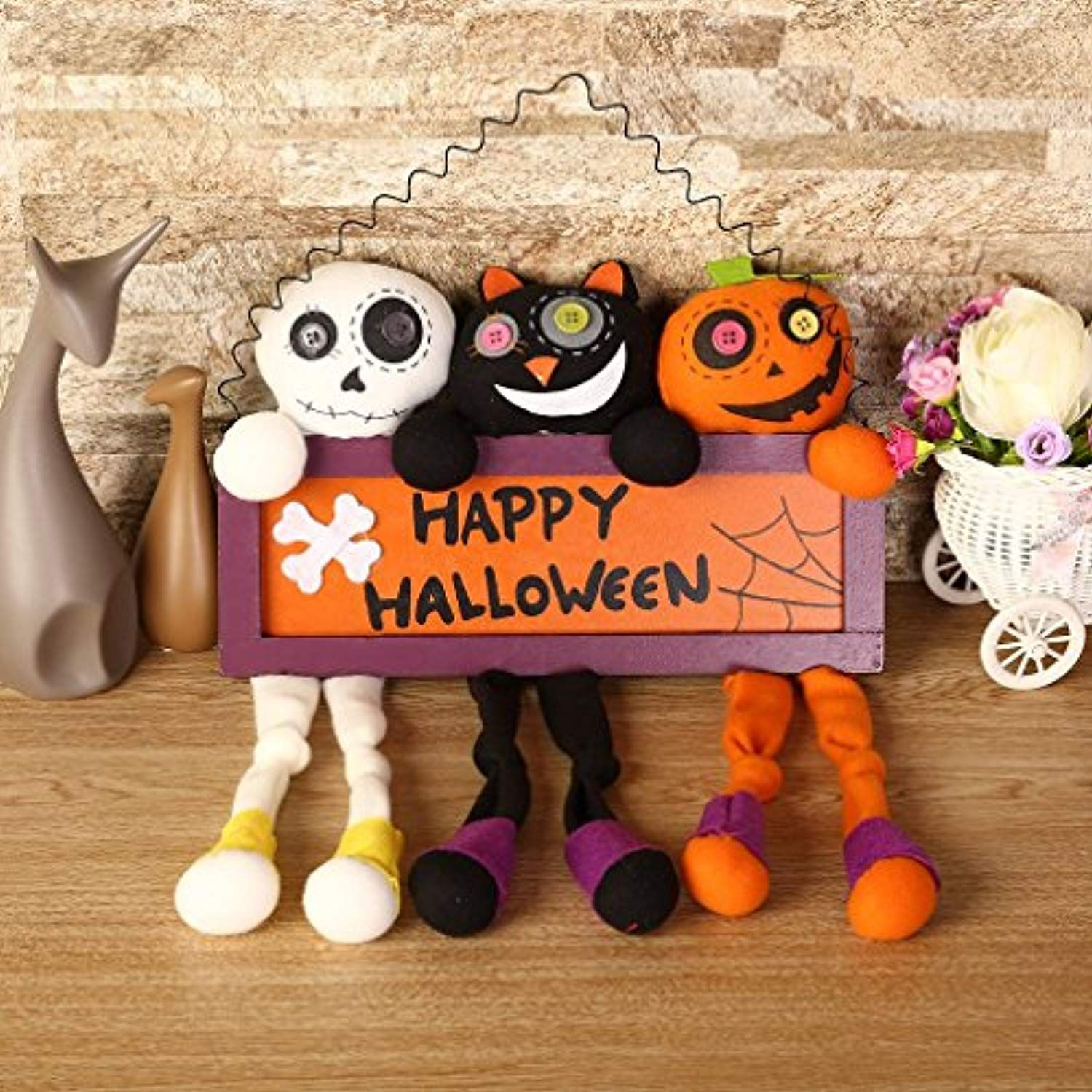 Halloween Decorations 3 In 1 CHildren Toy Dolls U-Kiss Hanging Tag - halloween window decor