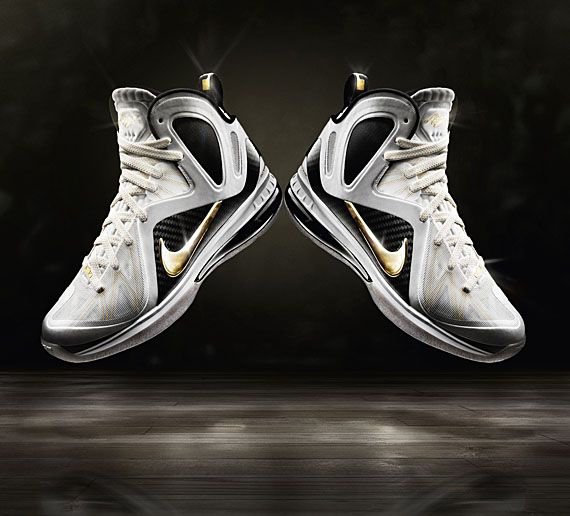 Hot Sale Nike Lebron 9 516958 002 PS Elite Black Metallic Gold B