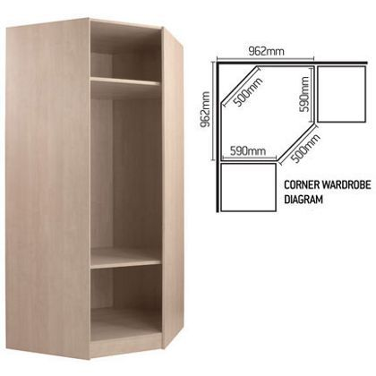 Schreiber Corner Wardrobe Carcass At Homebase Be: corner wardrobe ideas