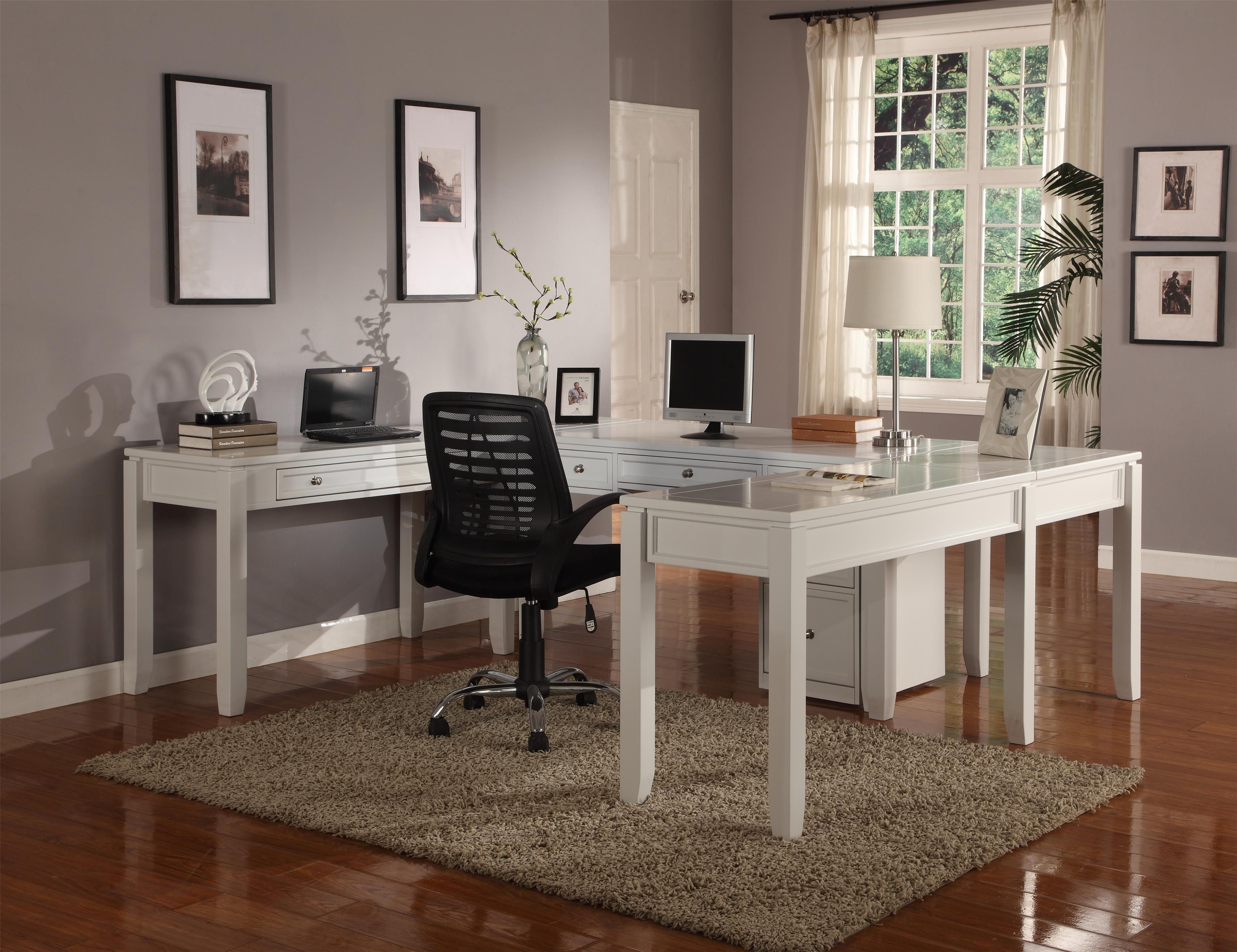 Boca Five Piece U Shaped Desk With 5 Drawers By Parker House