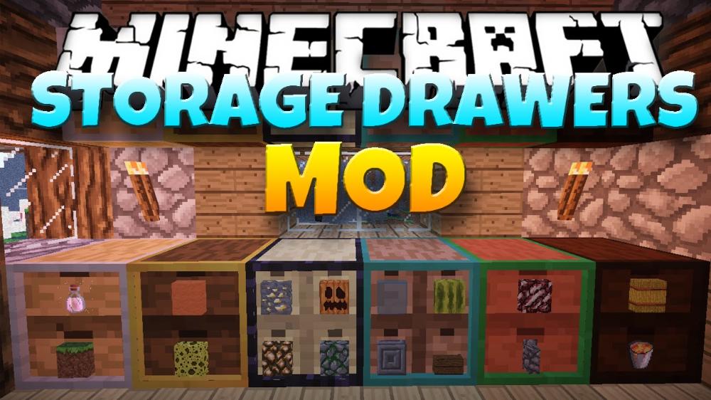 Storage Drawers Mod 1 15 2 1 14 4 Store Hundreds Of Items 9minecraft Net In 2020 Minecraft Mods Storage Drawers Minecraft Storage