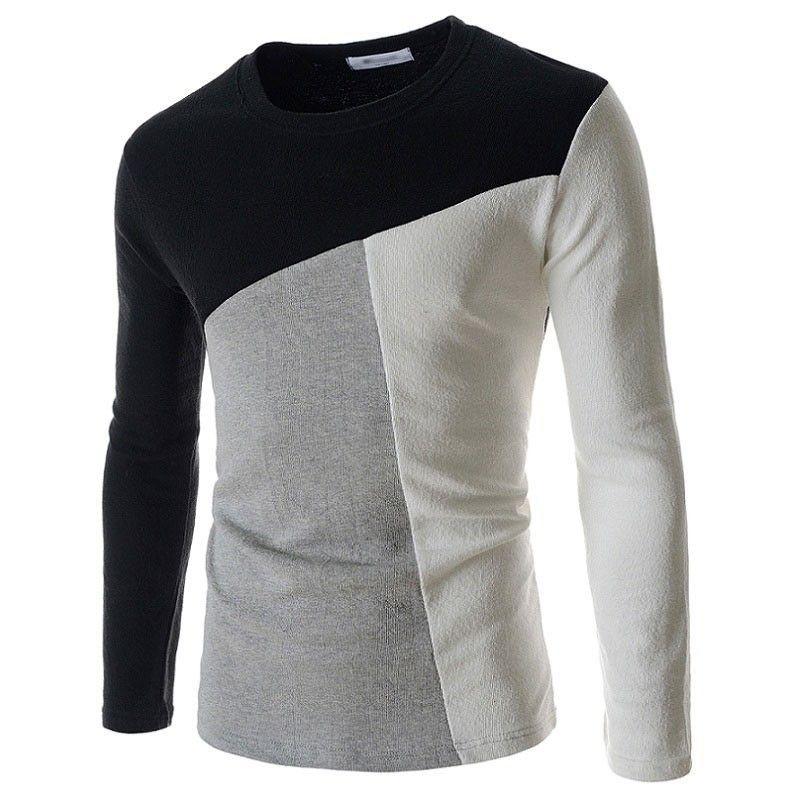 85c653cf7 Camiseta Inglesa de de Lã Inverno Masculino Manga Longa Frio ...