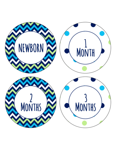 Celebrate Your Newborn As They Age With This Printable Set Of Month Stickers Customize The Label Templates Label Templates Custom Labels Free Label Templates