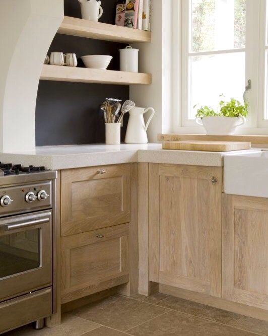 Bleached wood cabinets   Wood kitchen cabinets, Natural ...