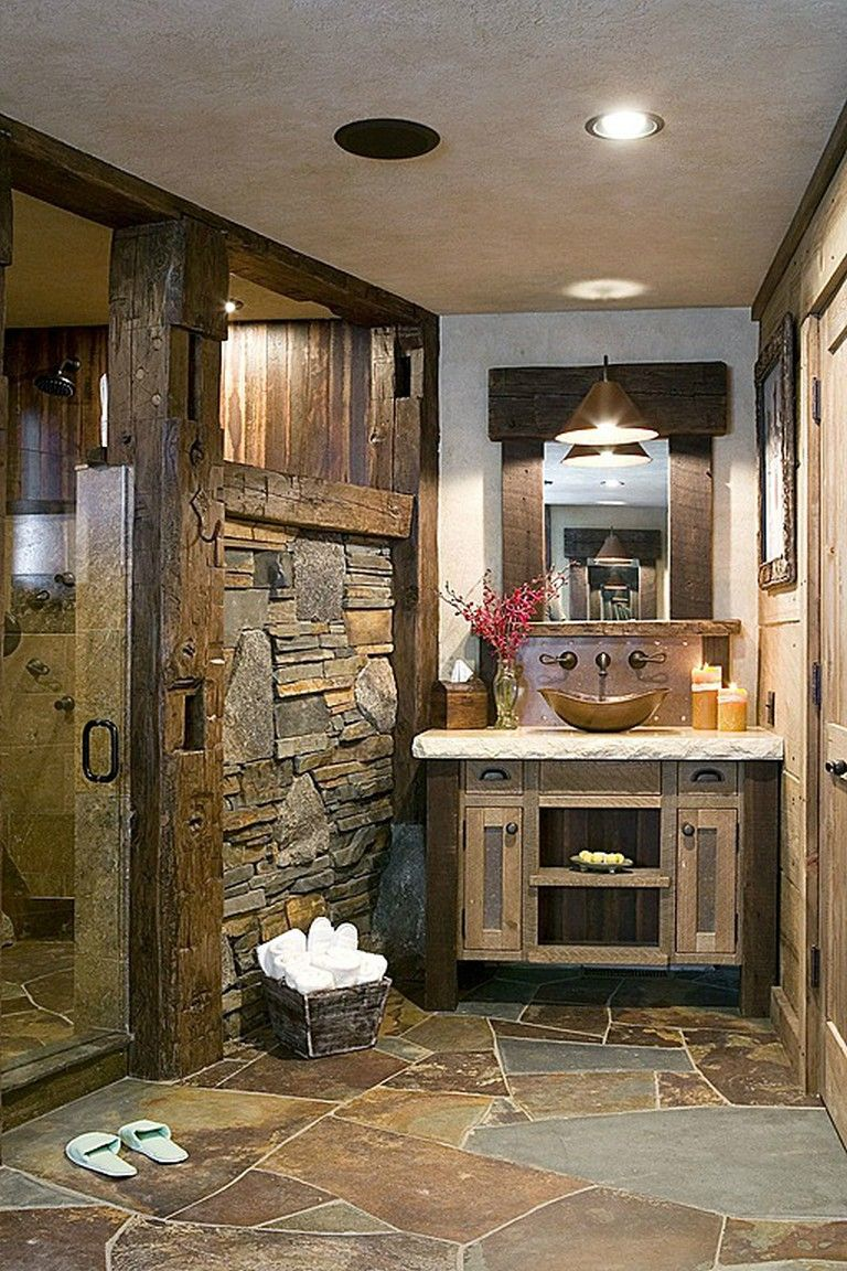 10+ Modern Rustic Bathroom Designs #bathroom #bathroomdesign