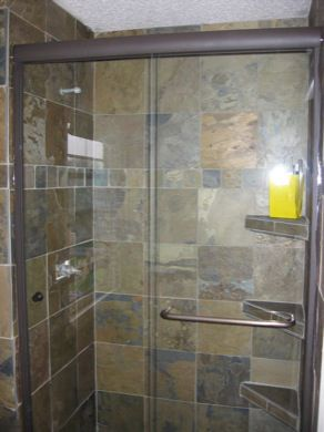 Semi frameless bypass shower door with a through the glass towel designed glass designs installs custom semi frameless glass shower enclosures for minnesota residents planetlyrics Choice Image