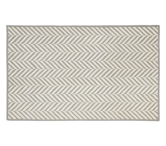 For Ryder's room! Herringbone Rug - Gray | Pottery Barn Kids