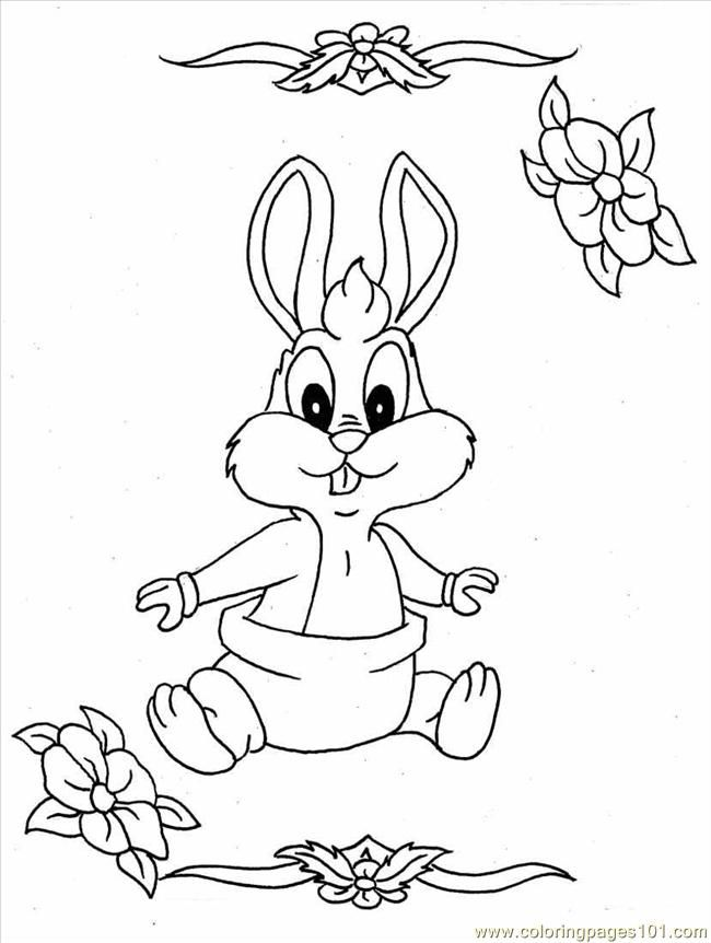 cute bunny coloring pages free printable coloring page baby bunny full cartoons bugs