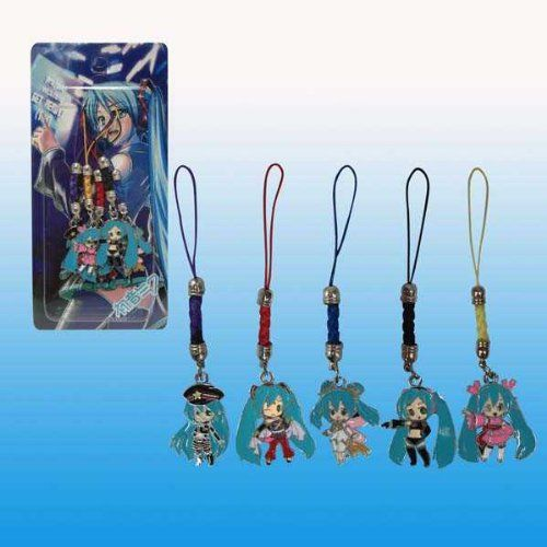 Japanese Animation Hatsune Miku Strap Charm Keychain 5pcs A Set Clearance List Price 12 99 Price 6 99 Japanese Animation Hatsune Miku Hatsune