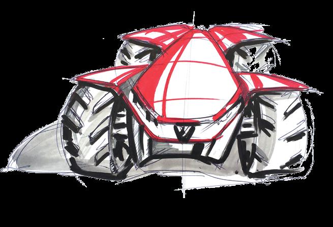 Valtra H202 Series Concept Lorenzo Mariotti Concept Design Sketch Sketches
