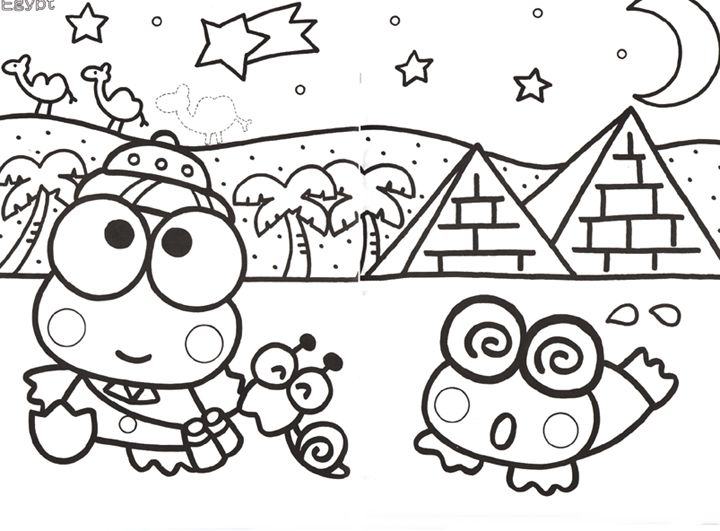 Keroppi Coloring Pages Coloring Pages Pinterest Hello Kitty