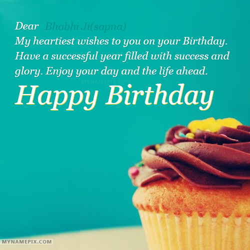 The Name Bhabhi Jisapna Is Generated On Happy Birthday Greetings With Name Image Downl Happy Birthday Greetings Birthday Greetings Birthday Wishes With Name