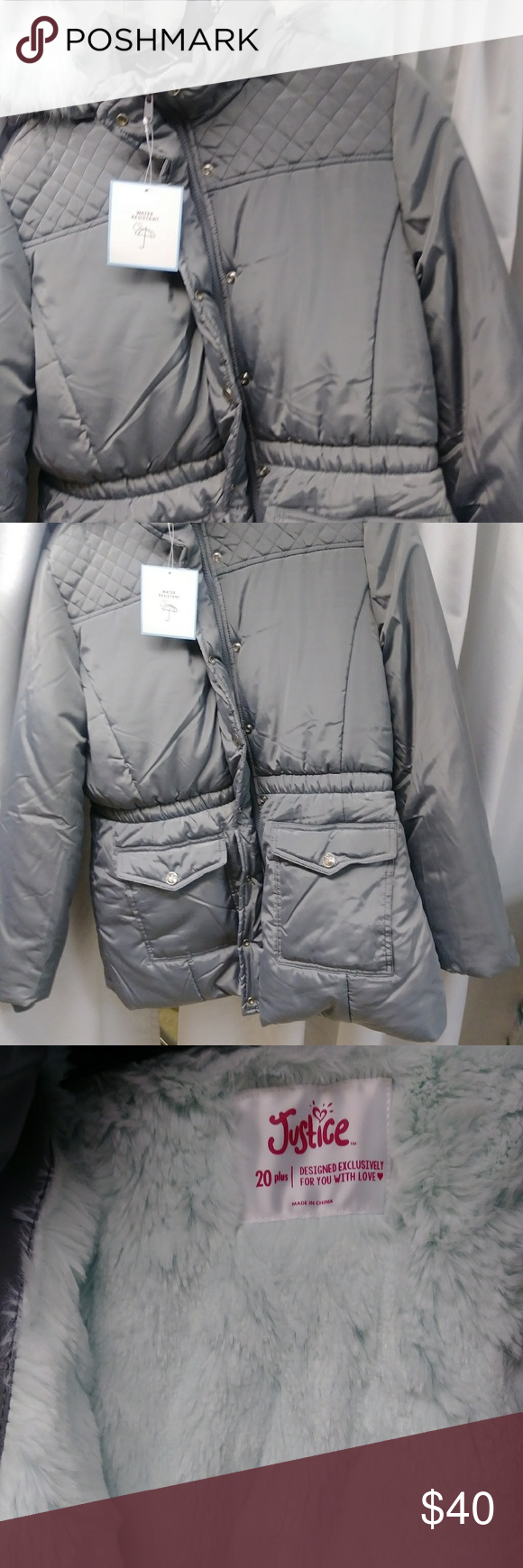 02a47d6be3f3 Girl Justice puffer coat jacket in 2019