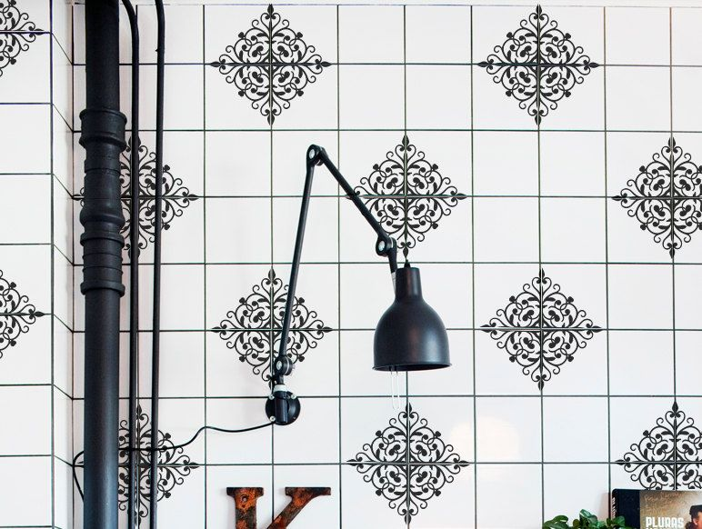 Decorative Tile Stickers Bathroom Wall Tiles Vinyl Decal  Moroccan Pattern Kitchen  Bathroom