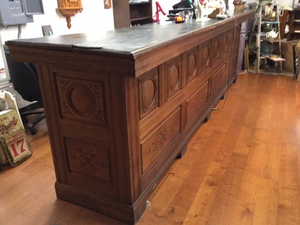 1800 S Antique Old General Store Sales Counter Or Bar Original 12