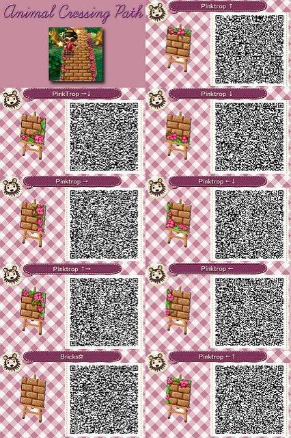 Post Bricks Pink Tropical Animal Crossing Qr Animal Crossing