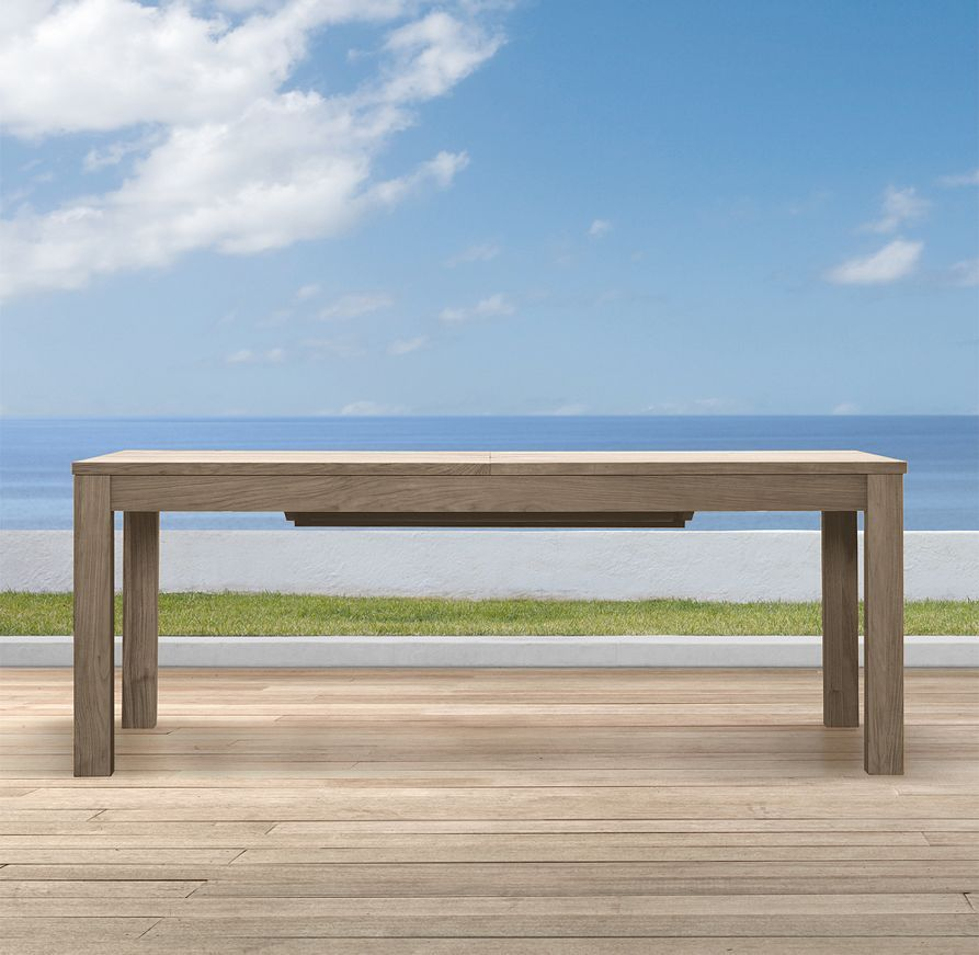 Belvedere Extension Dining Table Weathered Teak Pai Patio - Weathered teak outdoor dining table