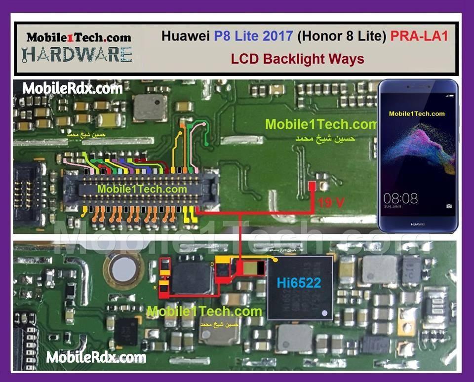 Huawei P8 Lite Display Light Ways Backlight Jumper Solution Light Display Huawei Phone Solutions