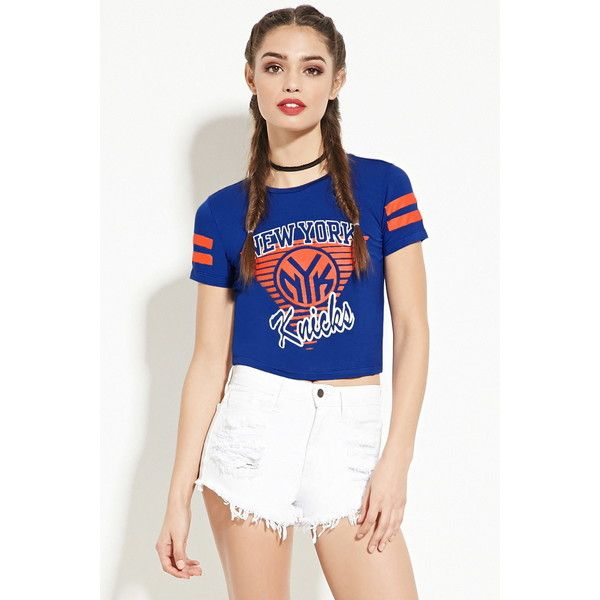 Forever 21 Women's New York Knicks Graphic Tee ($16) ❤ liked on Polyvore  featuring
