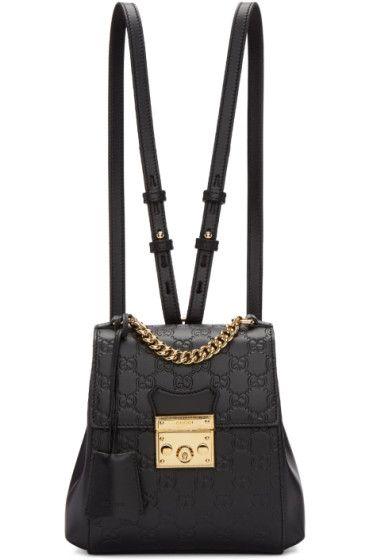 5ab4ebdef73 Gucci - Black Zaino GG Padlock Backpack