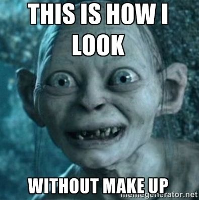 01412dec65936641d09b12dd6a7647c1 gollum meme no makeup gollum lord of the rings bilbo memes