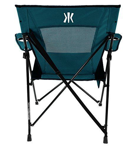 Portable  Folding Metal Chair Dual lock Indoor Outdoor  Camping Blue-Color 1 PC #Unbranded