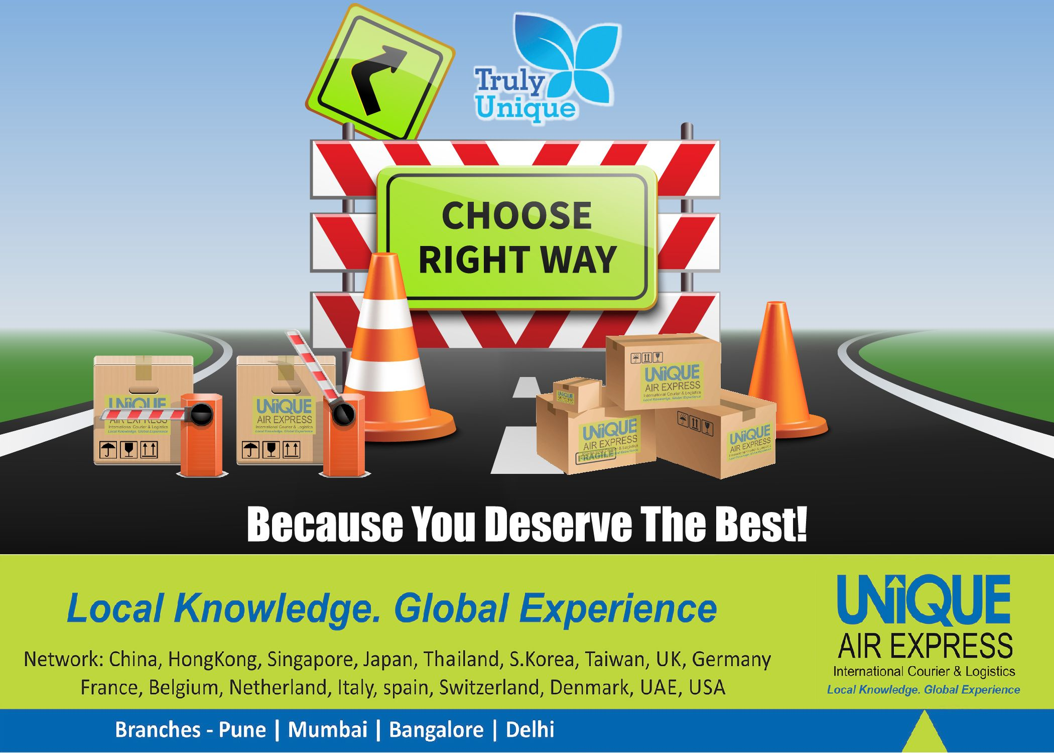 Choose Right Way in the world of International Courier