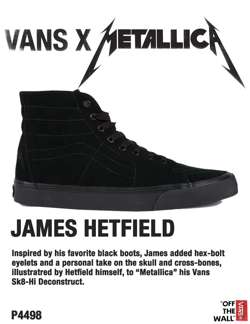89ad93869dec ReLoad your shoe rack with the Vans x Metallica James Hetfield ...